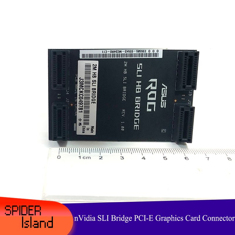 Original Certified Products NVidia Card SLI Bridge PCI-E Graphics Connector Bridge Connection For Video Card 6CM