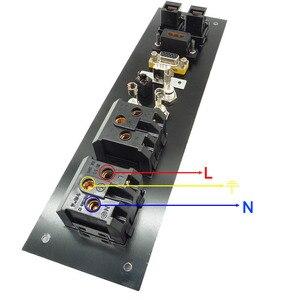 Image 5 - Liga de alumínio multimídia, usb vga, rede hdmi, interface uk/eu/us/cn tomada elétrica placa de energia china plug adaptador