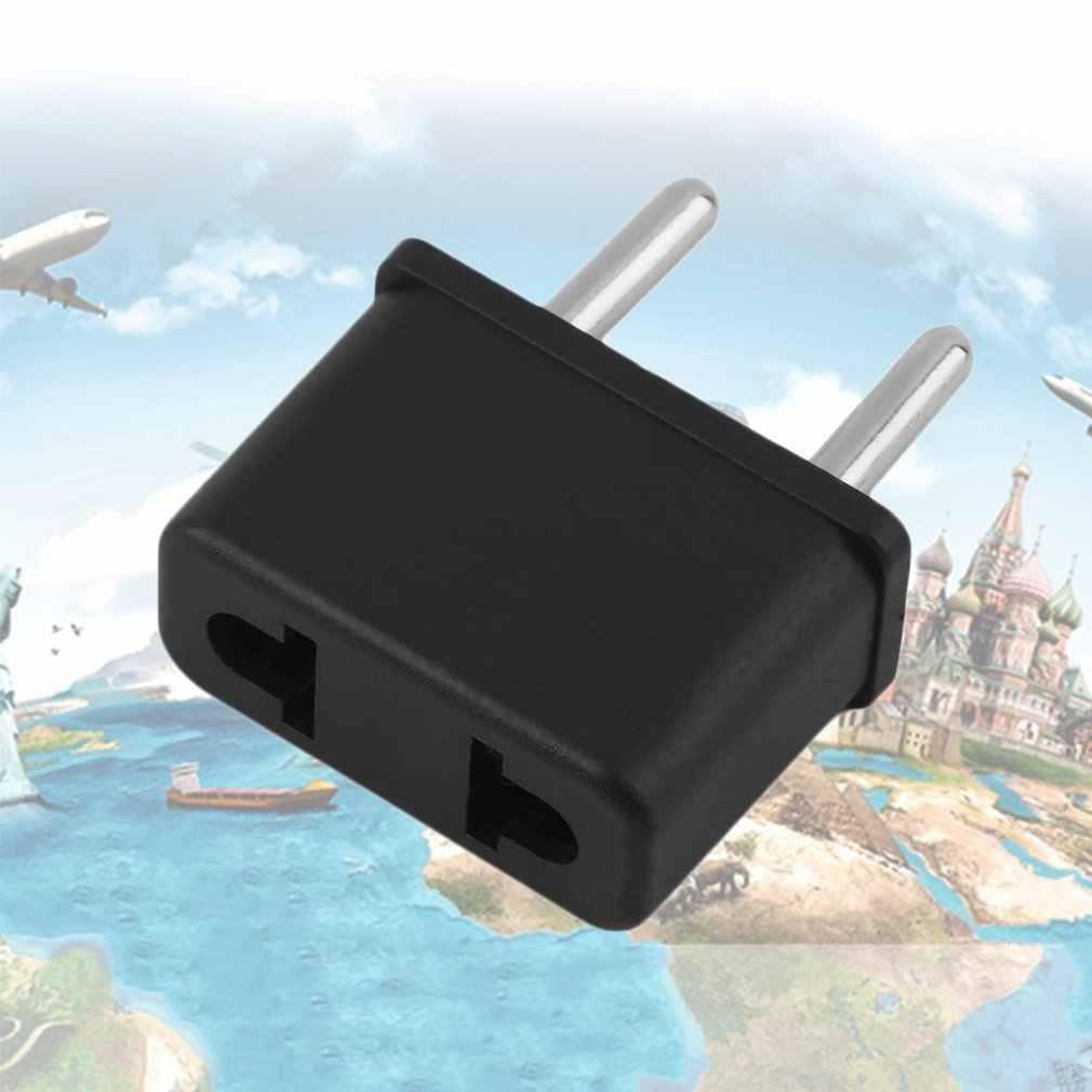 ユニバーサル EU プラグ米国欧州 220V 旅行白壁の Ac 電源の充電器コンセントアダプタコンバータ 2 ラウンドソケットピン