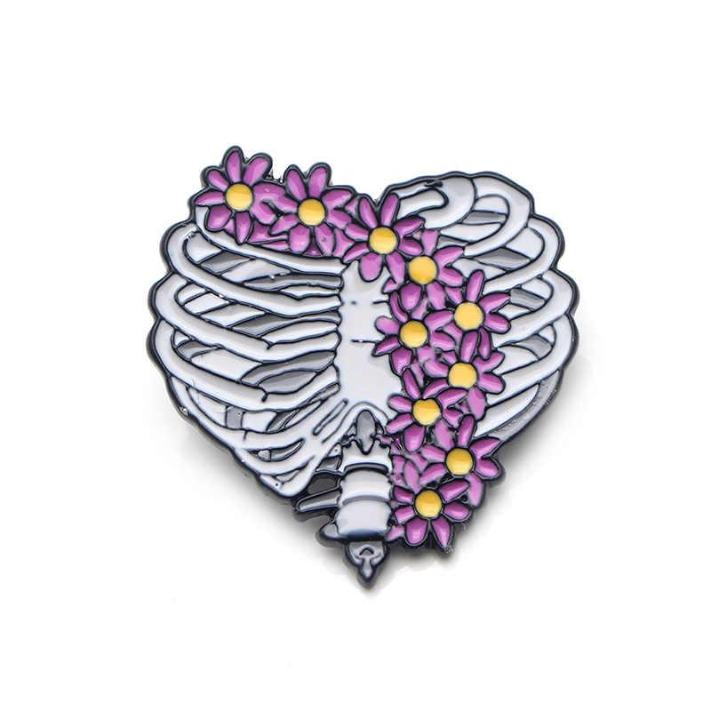 K499 Grigio Anatomia delle Infermiera Medico Dello Smalto Spilli Spille Badge Kit di Primo Soccorso Cuore Del Cranio Utero Meredith Grigio Medico Gioielli 1pcs