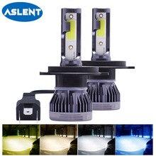 2Pcs 미니 H7 H4 LED 전구 자동차 헤드 라이트 H11 H1 H8 H3 H9 9005 HB3 9006 HB4 자동 전조등 LED 차가운 흰색 노란색 3000K 8000K