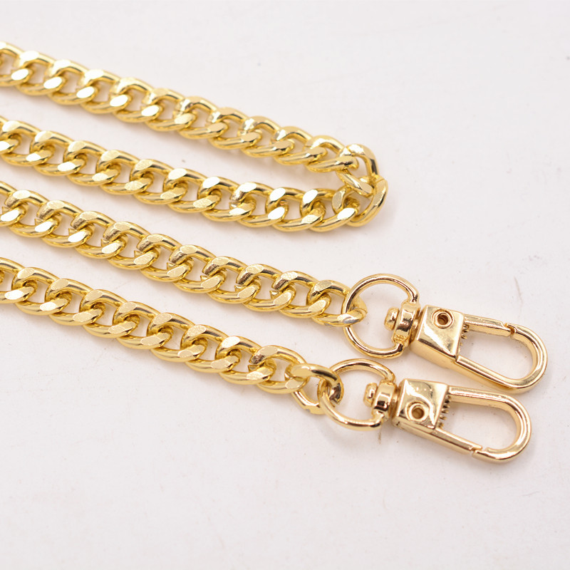 Metal Gold Chain Strap For Bag 40-160cm Metal Alunimium Handbag Chain Accessories For DIY Replacement Bag Parts Accessories