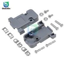 5 sztuk/partia DB9 2 wiersz 9 Pin DB15 3 wiersz 15 złącze pinowe obudowa z tworzywa sztucznego osłona maski złącze do DB DB9 DB15 Adapter obudowa