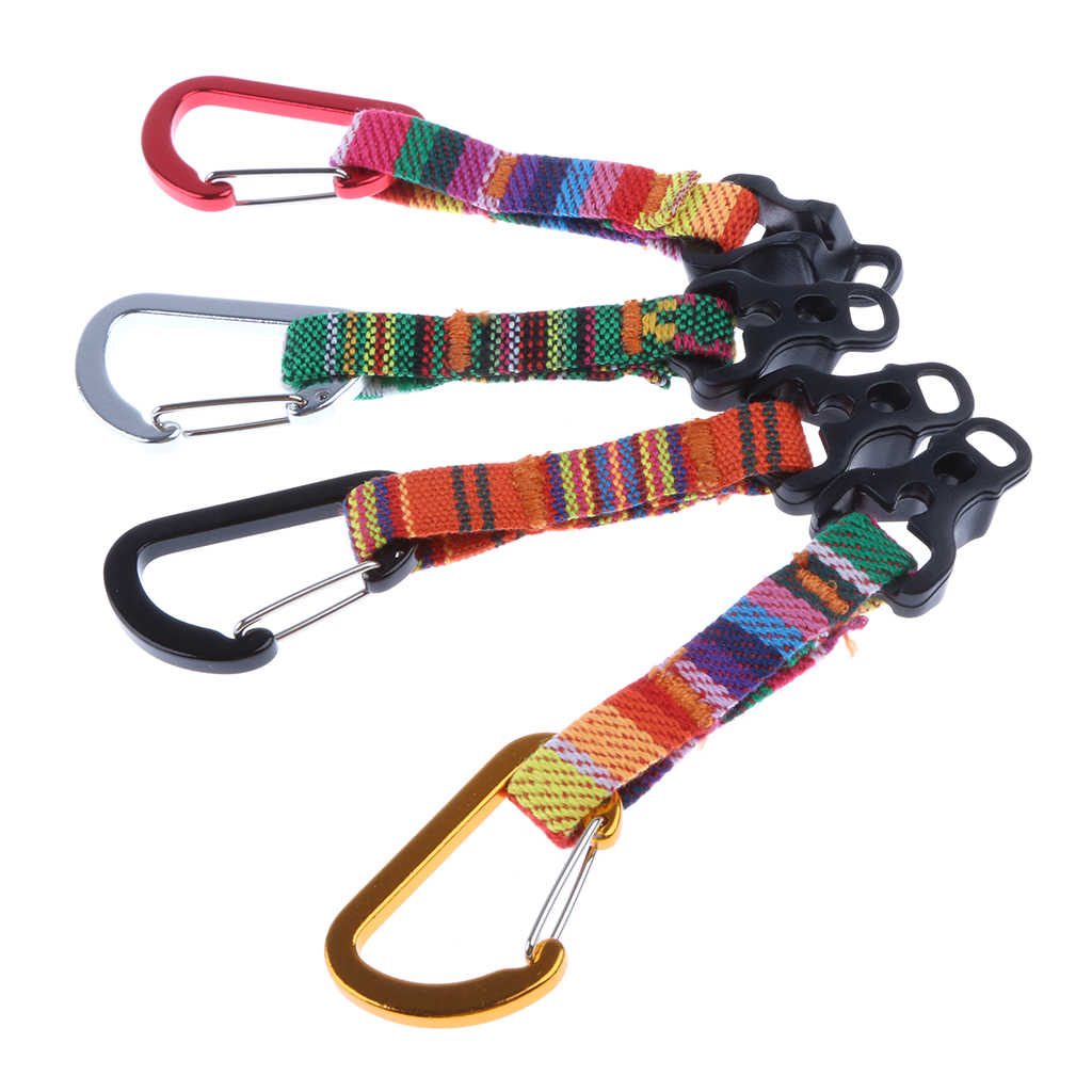 Hammock Hanging Rope Guyline Cord with Alloy Carabiners Buckles Camping Tent