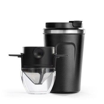 Taza de café portátil de 380ML, juego de café hecho a mano, filtro de café sin filtro de papel, filtro de elaboración de cerveza, taza de café, café por goteo