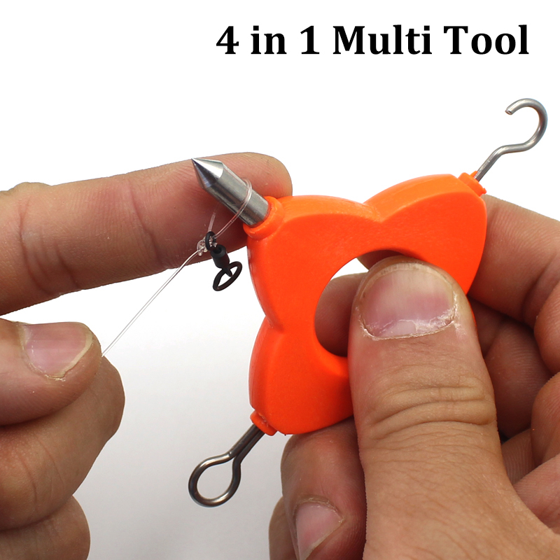 1PCS Knot Puller Tool 4 In 1 Multi Puller Tool For Rig Making Method Feeder Fishing Carp Fishing Terminal Tackle Accessories