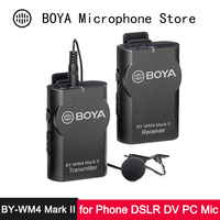 BOYA Phone Wireless Lav Microphone for iPhone Android Smartphon SLR Camera DV Camcorder PC Professional Audio Video Lavalier Mic