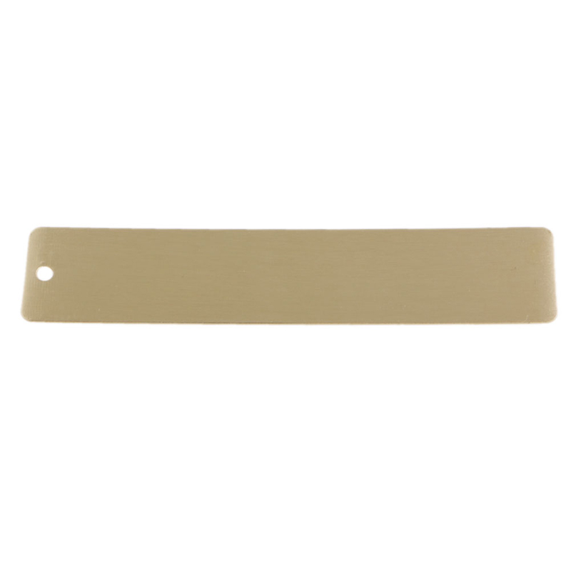 Mini Outdoor Brass Ruler Bookmark Double Scale Cm&Inch Digital Traveler Notebook
