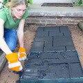 DIY геометрические пластиковые формы для изготовления дорожек вручную, Тротуарные формы для цементных кирпичей, садовые каменные дорожные б...