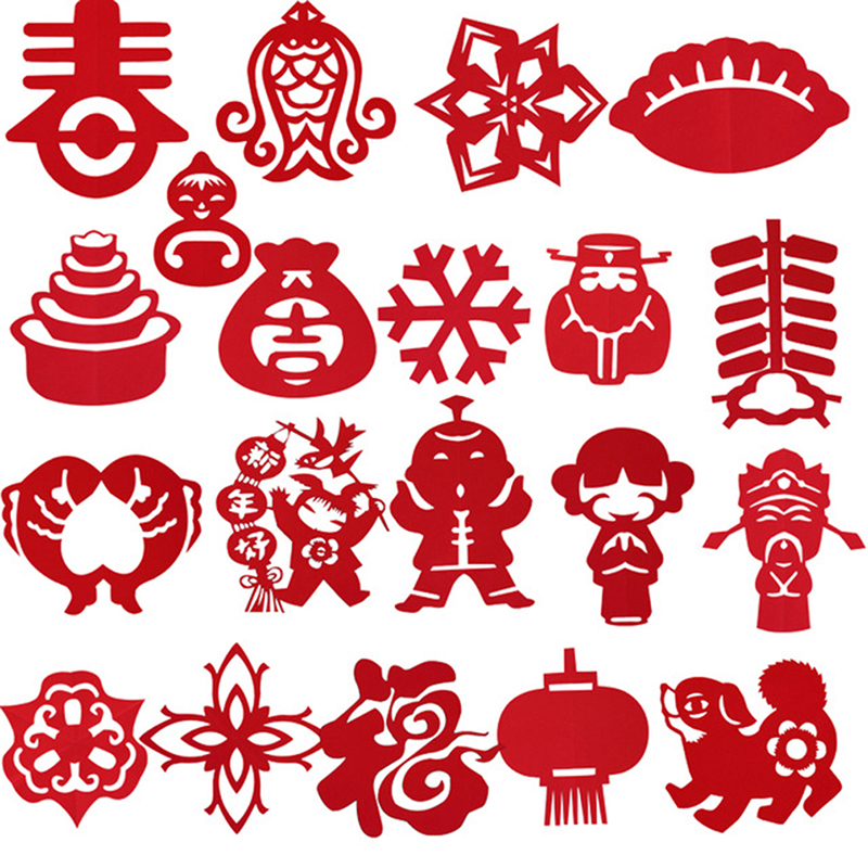 60 Pcs/Set New Style Chinese Paper-cut Kids Art Craft DIY Toys/ 17*17cm Children Paper Art For Kindergarden Handmade Toys