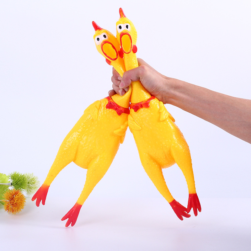 32cm 17cm Screaming Chicken Squeeze Sound Toy Pets Toy Product Dog Toys Shrilling Decompression Tool Funny Gadgets