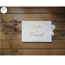 Hardcover Wedding Guestbook personalised Guest Book planner book Alternative hen party guest sign in book anniversary photo book