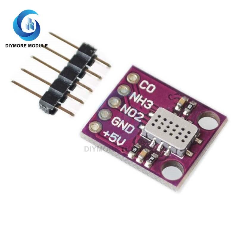 MICS-6814 Gas Sensor Carbon Monoxide CO VOC NO2 NH3 Nitrogen Oxygen Air Quality Detection Numerical Sensor Module for Arduino