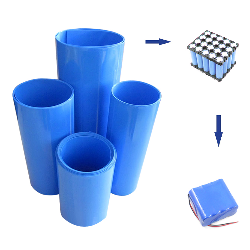 2M PVC Heat Shrink Tube 18650 Shrinkable Tubing For Lithium Batteries Pack Protection Insulation Casing Heat Shrink Cable Sleeve