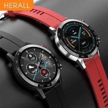 HERALL 2020 ECG Smart Watch For Men IP68 Waterproof Smartwatch Blood Pressure Monitor For Android Apple Xiaomi
