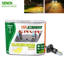 XENCN H1 2300K 12V 55W złote oczy Super żółta oryginalna linia samochodów halogenowe głowy światła OEM jakości lampa samochodowa darmowa wysyłka 2 sztuk tanie tanio 12 v 2 bulbs Emark DOT 64150 P14 5s