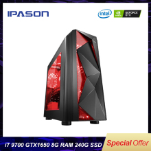 Buy IPASON Desktop PC Intel i7 9700 GTX1650 4G 240G SSD 8G DDR4 RAM for Game PUBG Assembly Gaming desktop Computers directly from merchant!
