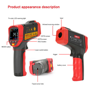 Image 2 - UNI T UT301A+ Non Contact Laser LCD Display IR Infrared Digital C/F Selection Surface Temperature Thermometer Pyrometer Imager