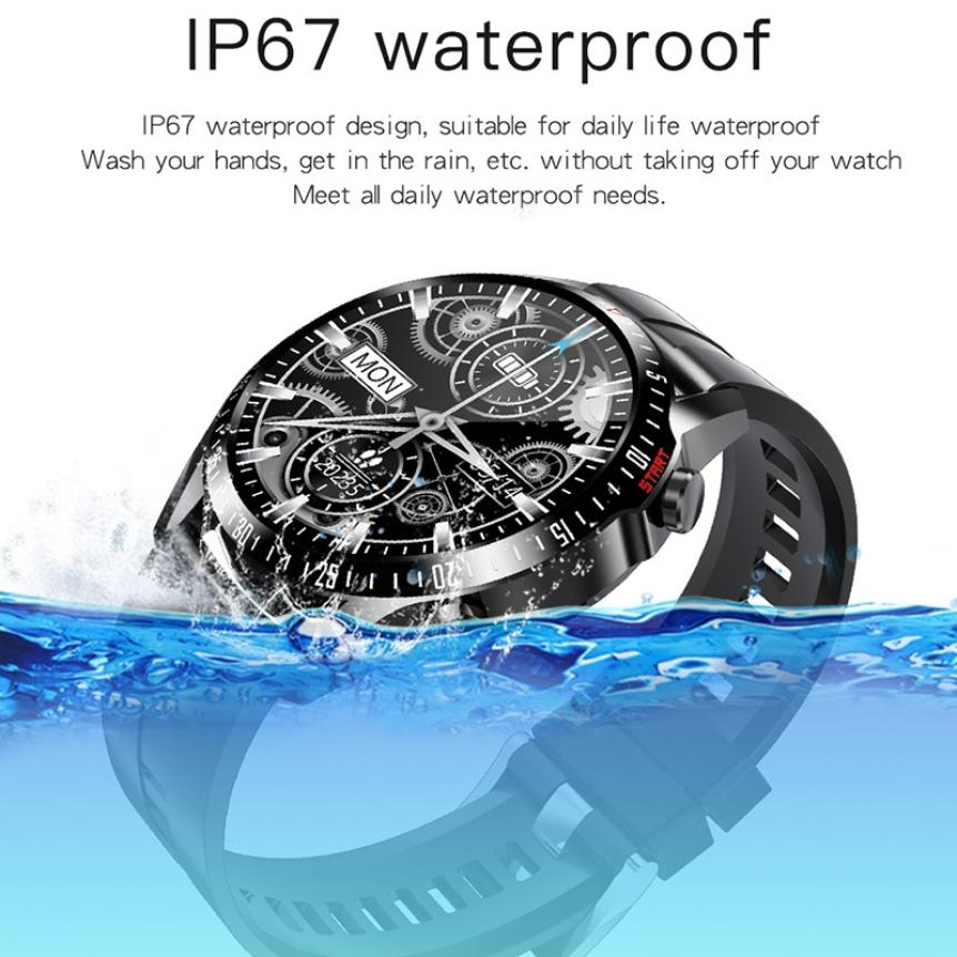 CAH20072902O_CK29 Round Thin 1.28 Screen Smart Watch Bluetooth Touch Waterproof IP67 Smart Band Call Temperature Multi-dials Smart Bracelet (11)
