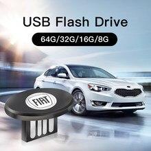 Carro de metal invisível usb flash drive de alta velocidade 2.0 u disco memória para fiat 500 tipo stilo grande punto astra bravo freemont