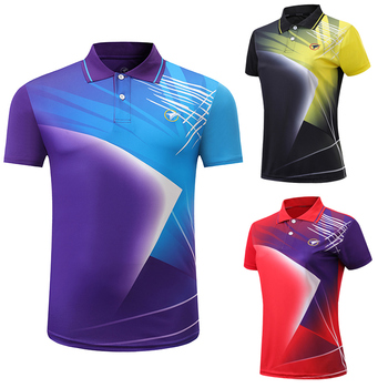 2020 New Badminton shirts Men/Women Quick Dry sport shirt table tennis t-shirt Running Fitness Exercise Training Polo T Shirts