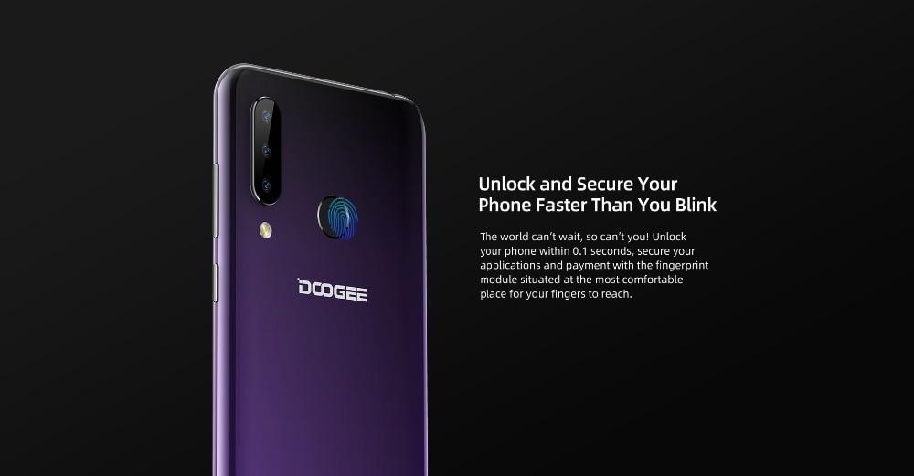 H41418a403d204276bbf0817bca59b337o DOOGEE N20 New 2019 Smartphone 6.3inch FHD+ Display 4350mAh 4GB+64GB Octa Core 10w charge Fingerprint 16MP Triple Back Camera