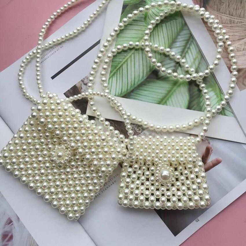 Fashion Non-mainstream Design Delicacy Zhen Zhu Bao Beaded Bracelet Bag Handmade Mini Versatile Shoulder Small Mobile Phone Bead