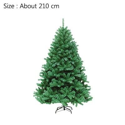 Strongwell 45/60/90/120 см Шифрование зеленое дерево мини искусственная Рождественская елка украшения светодиодное Рождественское украшение Декор - Цвет: 210cm