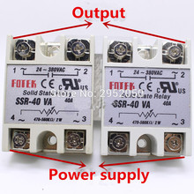 цена на Free shipping 2pcs SSR-40VA Metal Base Resistance Regulator Solid State Relay 500 Kohm Solid State Relay SSR-40 VA 40A