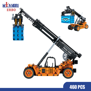 ERBO 460 Pcs City Building Blocks Technology Frontal Crane Car DIY Model Bricks Car Toys for Children Toys Educational Gift