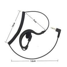 2 single earphone 3.5mm, G-shaped earphone only, earphone, earpiece, speaker hook, microphone, Baofeng Hytera Moto walkie talkie