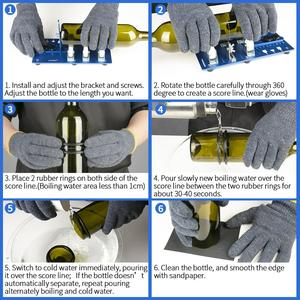 Image 4 - Профессиональный резак для стеклянных бутылок «сделай сам», инструмент «сделай сам» для пива, вина, резак для стеклянных бутылок, аппарат для резки и изготовления люстры