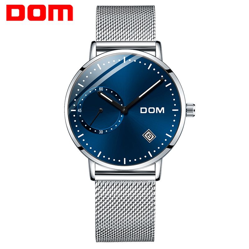 Permalink to DOM Watch Men Luxury Business Gold Melt Steel Man Watch Waterproof Calendar Unique Fashion Casual Quartz Male Dress Clock M-302