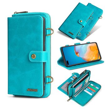 MEGSHI-020 Detachable wallet backpack Strong adsorption Leather phone case for Huawei P20 P30 P40 Mate20 Mate30 Pro Lite