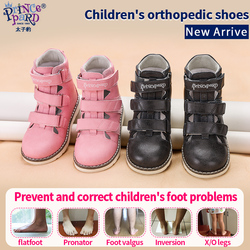 Princepard Orthopedic Sandals for Girls 2020 Spring Leather Children Shoes Pink Grey Toddler Boys Sandalias with Ankle Support