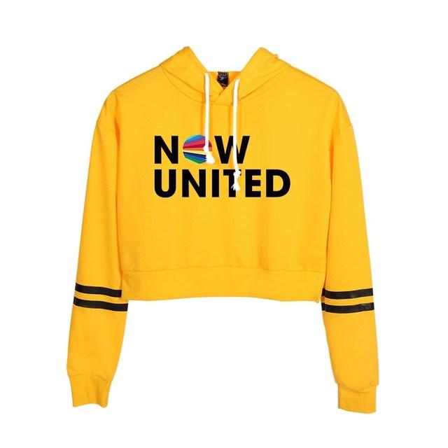 Now United Crop Top Hoodies Harajuku Japanese Anime Uzumaki Printed Hoodie Women Streetwear Fashion Cropped Sweatshirt Coat 5