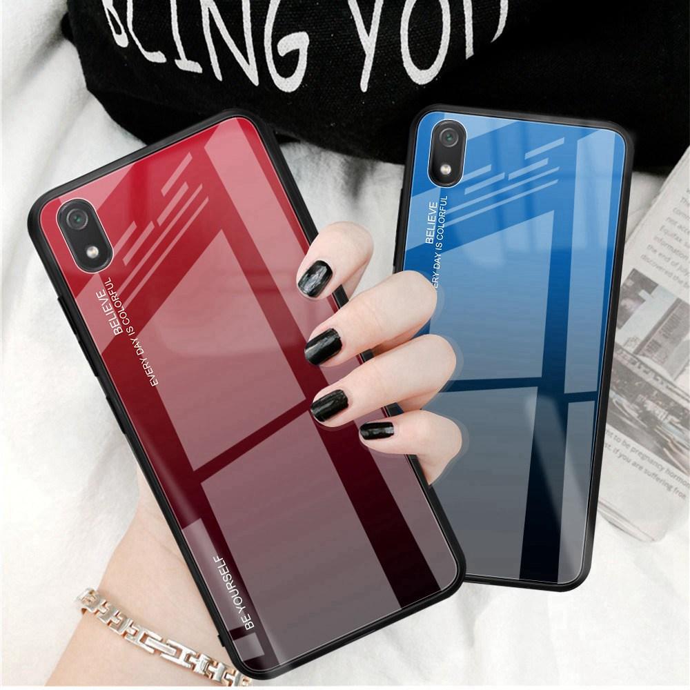 Floveme Phone-Case Tempered-Glass-Cases Note-7 funda Gradient Xiaomi Redmi