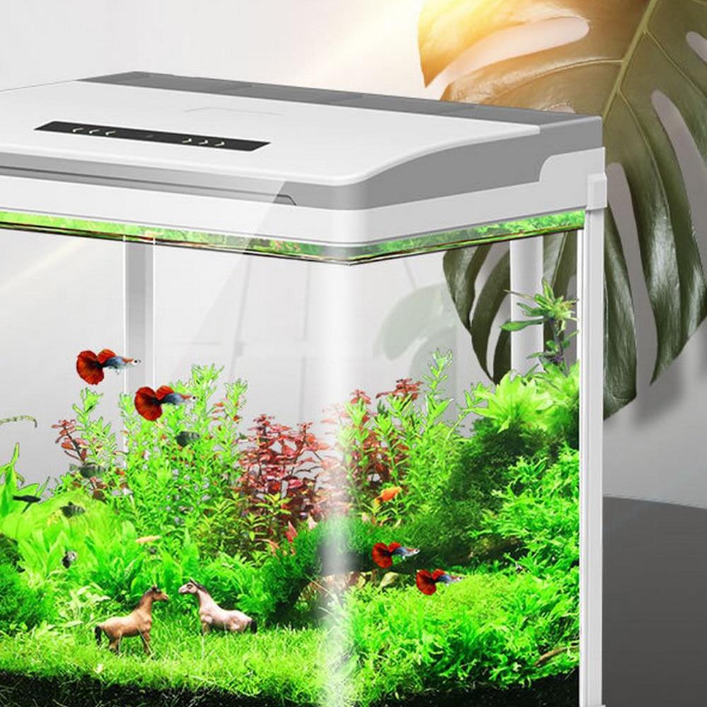 Mini inteligente acuario Betta peces acuario creativo perezoso escritorio pecera hogar auto circulación de vidrio trae caja de alimentación sin agua - 6