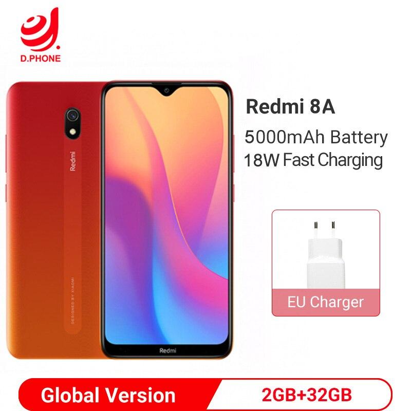 Global Version Xiaomi Redmi 8A 2GB RAM 32GB ROM 5000mAh Battery Smartphone Snapdragon 439 Octa Core 12MP Camera Mobile Phone