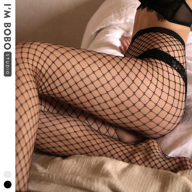 IMBOBO 2020 sexy fishnet female stockings ladies tights Taste Mesh black Pantyhose womens High waisted sexy lingerie stockings