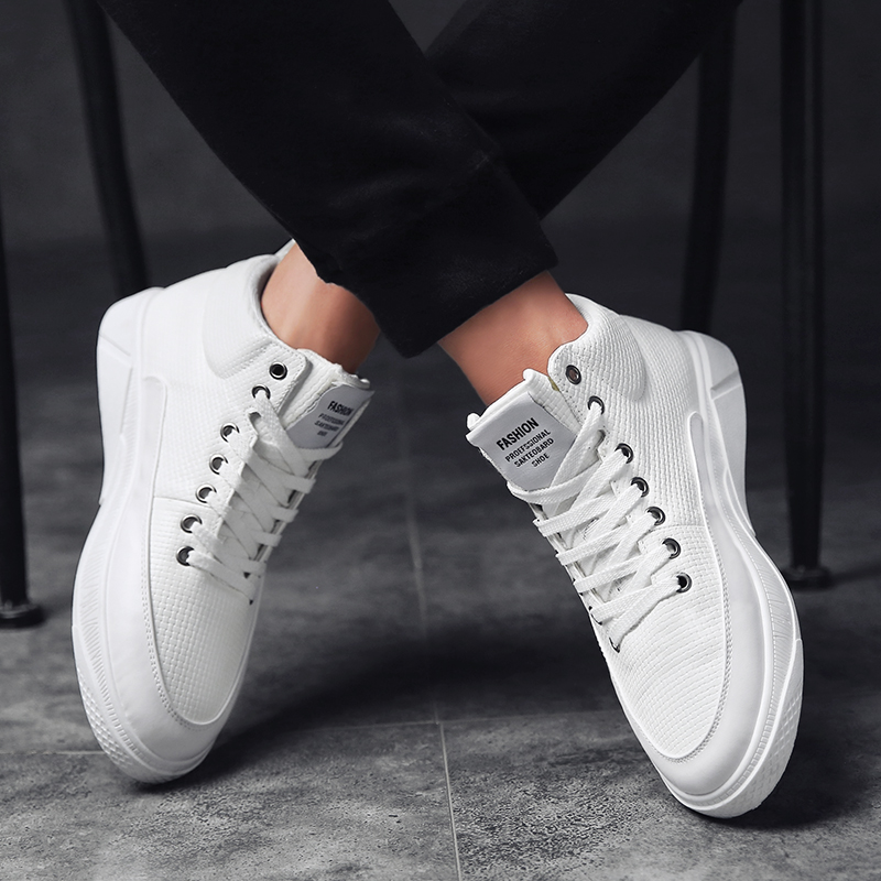 Men Sneakers Fashionable High-top Men's Canvas Shoes Outdoor Leisure Hiking Shoes Classic Men White Sneakers Men  Loafers Tenis