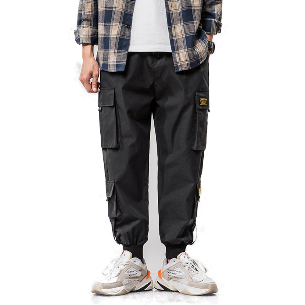 2019 New Autumn Military Track Cargo Pants Men Fashion Brand Trousers Harem Pants Men Streetwear Mens Joggers Pants Navy