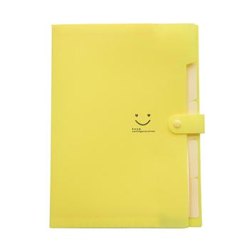 5 kieszeni rozszerzenie pliku foldery A4 rozmiar litery zamknięcie zatrzaskowe akordeon Folder papierowy Organizer do dokumentów zestaw (żółty z tanie i dobre opinie CN (pochodzenie)