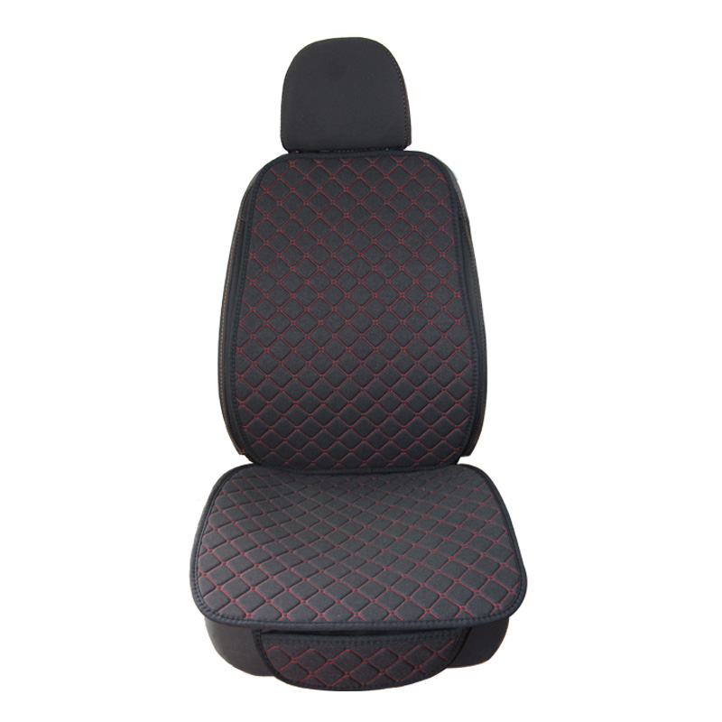 Linen Flax Car Seat Cover Protector Front Seat Back Cushion Pad Mat Auto Front Automotive interior Styling Truck SUV or Van|Automobiles Seat Covers| |  - title=