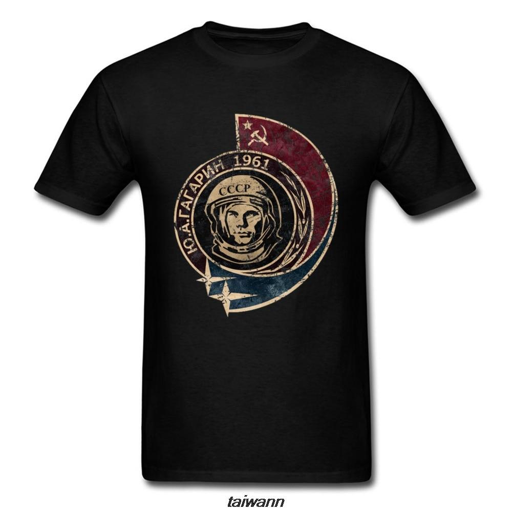 Yuri Gagarin Russia CCCP Spaceship T Shirt Cosmonaut Sputnik Moscow Space  SpaceX Retro Tshirt Black Occupy T Shirt Men