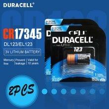 2 sztuk nowy oryginalny DURACELL 3v 1550mah bateria litowa CR123 CR123A CR17345 16340 CR 123A suche komórki pierwotne dla latarka kamery