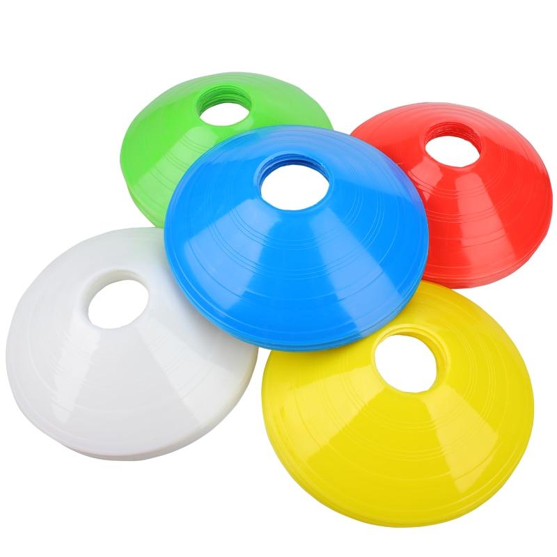 10Pcs Disc Soccer Goal Football Space Marker Cones Inline Skating/Skateboard/Soccer/Traffic Obstacles Markers Soccer Equipment