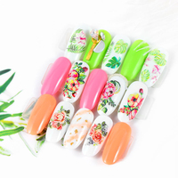 Classic DIY fashion packaging skills manicure flower design water transfer stickers nail applique tools
