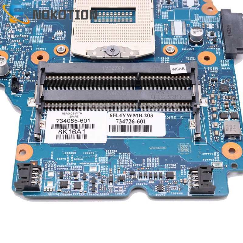 Nokotion 48.4yw05.011 734085-501 734085-001 placa-mãe do portátil para hp probook 450 g1 placa principal hm87 completamente testado