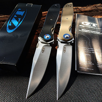 EDC Outdoor Tool ZT0640 Ball Bearing Folding Knife CPM20CV Blade Flipper Tactical Pocket Knives Camping Hunting Survival Knife